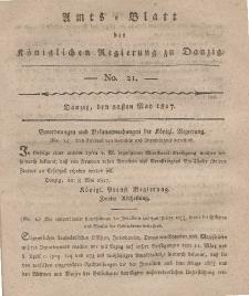 Amts-Blatt der Königlichen Regierung zu Danzig, 22. Mai 1817, Nr. 21