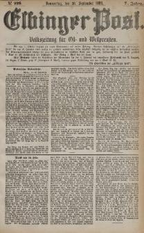 Elbinger Post, Nr. 229, Donnerstag 30 September 1880, 7 Jahrg.