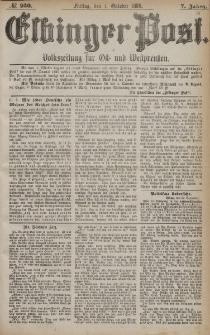 Elbinger Post, Nr. 230, Freitag 1 Oktober 1880, 7 Jahrg.