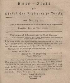 Amts-Blatt der Königlichen Regierung zu Danzig, 12. Juni 1817, Nr. 24