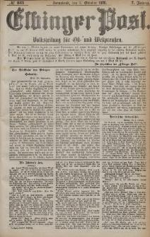 Elbinger Post, Nr. 231, Sonnabend 2 Oktober 1880, 7 Jahrg.