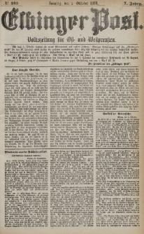 Elbinger Post, Nr. 232, Sonntag 3 Oktober 1880, 7 Jahrg.