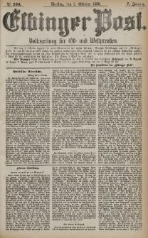Elbinger Post, Nr. 233, Dienstag 5 Oktober 1880, 7 Jahrg.