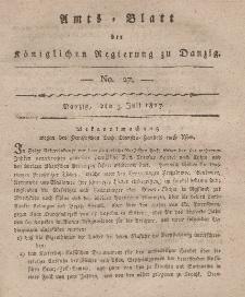 Amts-Blatt der Königlichen Regierung zu Danzig, 3. Juli 1817, Nr. 27