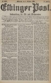 Elbinger Post, Nr. 234, Mittwoch 6 Oktober 1880, 7 Jahrg.