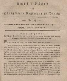 Amts-Blatt der Königlichen Regierung zu Danzig, 10. Juli 1817, Nr. 28