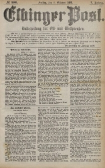 Elbinger Post, Nr. 236, Freitag 8 Oktober 1880, 7 Jahrg.