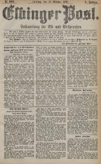 Elbinger Post, Nr. 238, Sonntag 10 Oktober 1880, 7 Jahrg.