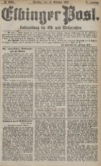 Elbinger Post, Nr. 239, Dienstag 12 Oktober 1880, 7 Jahrg.
