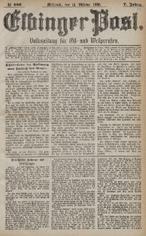 Elbinger Post, Nr. 240, Mittwoch 13 Oktober 1880, 7 Jahrg.