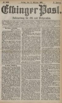 Elbinger Post, Nr. 242, Freitag 15 Oktober 1880, 7 Jahrg.