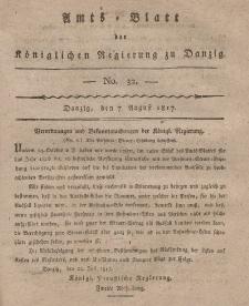 Amts-Blatt der Königlichen Regierung zu Danzig, 7. August 1817, Nr. 32