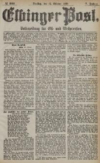 Elbinger Post, Nr. 245, Dienstag 19 Oktober 1880, 7 Jahrg.