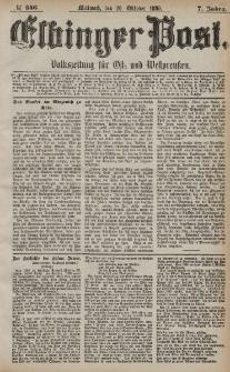 Elbinger Post, Nr. 246, Mittwoch 20 Oktober 1880, 7 Jahrg.