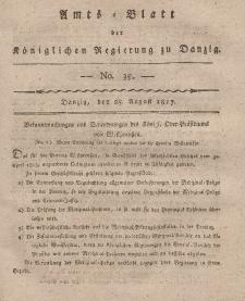 Amts-Blatt der Königlichen Regierung zu Danzig, 28. August 1817, Nr. 35