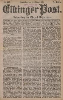 Elbinger Post, Nr. 247, Donnerstag 21 Oktober 1880, 7 Jahrg.