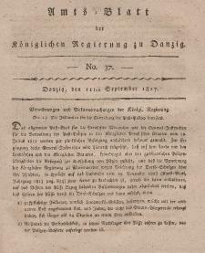 Amts-Blatt der Königlichen Regierung zu Danzig, 11. September 1817, Nr. 37