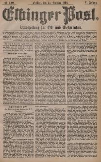 Elbinger Post, Nr. 248, Freitag 22 Oktober 1880, 7 Jahrg.