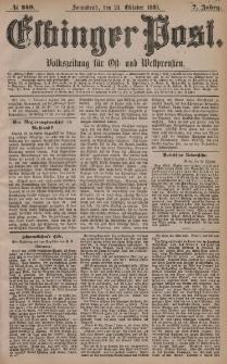 Elbinger Post, Nr. 249, Sonnabend 23 Oktober 1880, 7 Jahrg.