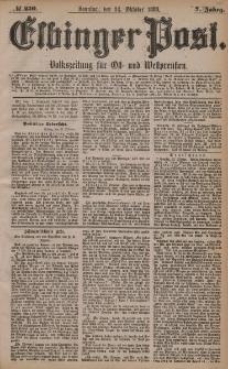 Elbinger Post, Nr. 250, Sonntag 24 Oktober 1880, 7 Jahrg.