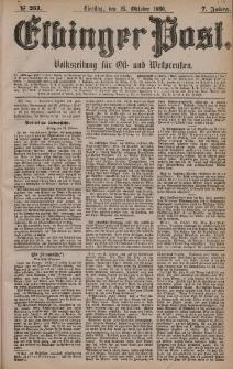 Elbinger Post, Nr. 251, Dienstag 25 Oktober 1880, 7 Jahrg.