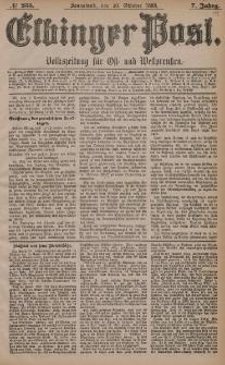Elbinger Post, Nr. 255, Sonnabend 30 Oktober 1880, 7 Jahrg.