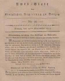 Amts-Blatt der Königlichen Regierung zu Danzig, 18. September 1817, Nr. 38