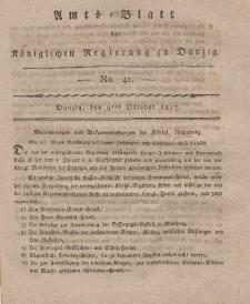 Amts-Blatt der Königlichen Regierung zu Danzig, 9. Oktober 1817, Nr. 41