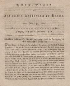 Amts-Blatt der Königlichen Regierung zu Danzig, 30. Oktober 1817, Nr. 44