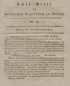 Amts-Blatt der Königlichen Regierung zu Danzig, 6. November 1817, Nr. 45