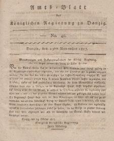Amts-Blatt der Königlichen Regierung zu Danzig, 13. November 1817, Nr. 46