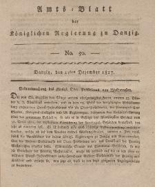 Amts-Blatt der Königlichen Regierung zu Danzig, 11. Dezember 1817, Nr. 50