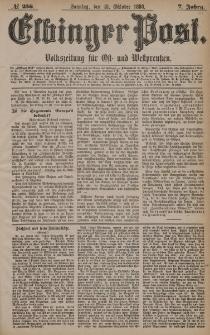 Elbinger Post, Nr. 256, Sonntag 31 Oktober 1880, 7 Jahrg.