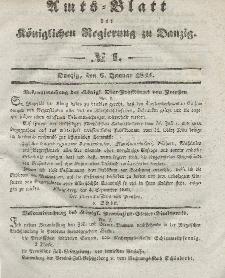 Amts-Blatt der Königlichen Regierung zu Danzig, 6. Januar 1841, Nr. 1