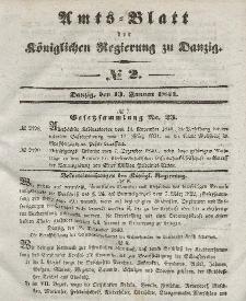 Amts-Blatt der Königlichen Regierung zu Danzig, 13. Januar 1841, Nr. 2