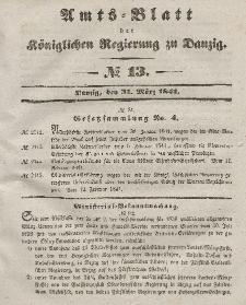 Amts-Blatt der Königlichen Regierung zu Danzig, 31. März 1841, Nr. 13