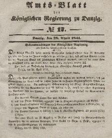 Amts-Blatt der Königlichen Regierung zu Danzig, 28. April 1841, Nr. 17