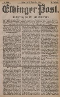 Elbinger Post, Nr. 260, Freitag 5 November 1880, 7 Jahrg.
