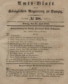 Amts-Blatt der Königlichen Regierung zu Danzig, 14. Juli 1841, Nr. 28