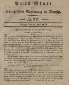 Amts-Blatt der Königlichen Regierung zu Danzig, 21. Juli 1841, Nr. 29