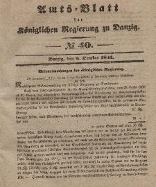 Amts-Blatt der Königlichen Regierung zu Danzig, 6. Oktober 1841, Nr. 40