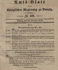 Amts-Blatt der Königlichen Regierung zu Danzig, 20. Oktober 1841, Nr. 42