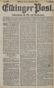 Elbinger Post, Nr. 264, Mittwoch 10 November 1880, 7 Jahrg.
