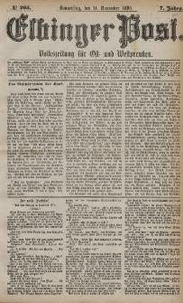 Elbinger Post, Nr. 265, Donnerstag 11 November 1880, 7 Jahrg.