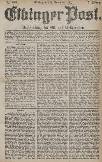 Elbinger Post, Nr. 269, Dienstag 16 November 1880, 7 Jahrg.