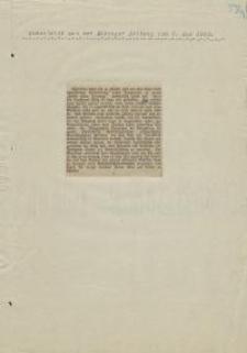 """Ausschnitt aus der """"Elbinger Zeitung"""", 03.05.1933 r."""