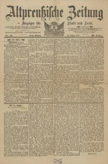 Altpreussische Zeitung, Nr. 45 Mittwoch 23 Februar 1887, 39. Jahrgang
