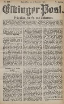 Elbinger Post, Nr. 289, Donnerstag 9 Dezember 1880, 7 Jahrg.