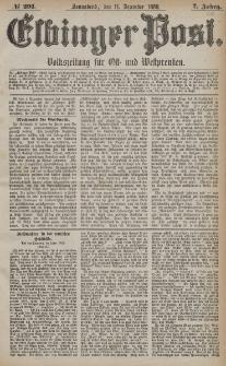 Elbinger Post, Nr. 291, Sonnabend 11 Dezember 1880, 7 Jahrg.