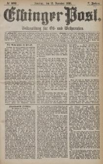 Elbinger Post, Nr. 292, Sonntag 12 Dezember 1880, 7 Jahrg.